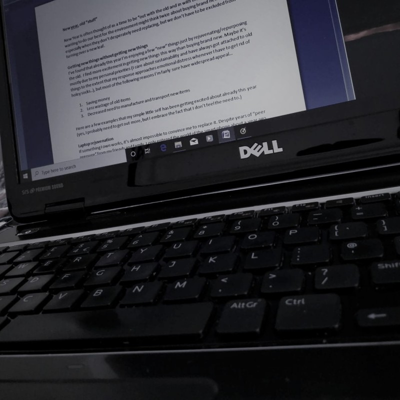 Close up image of laptop
